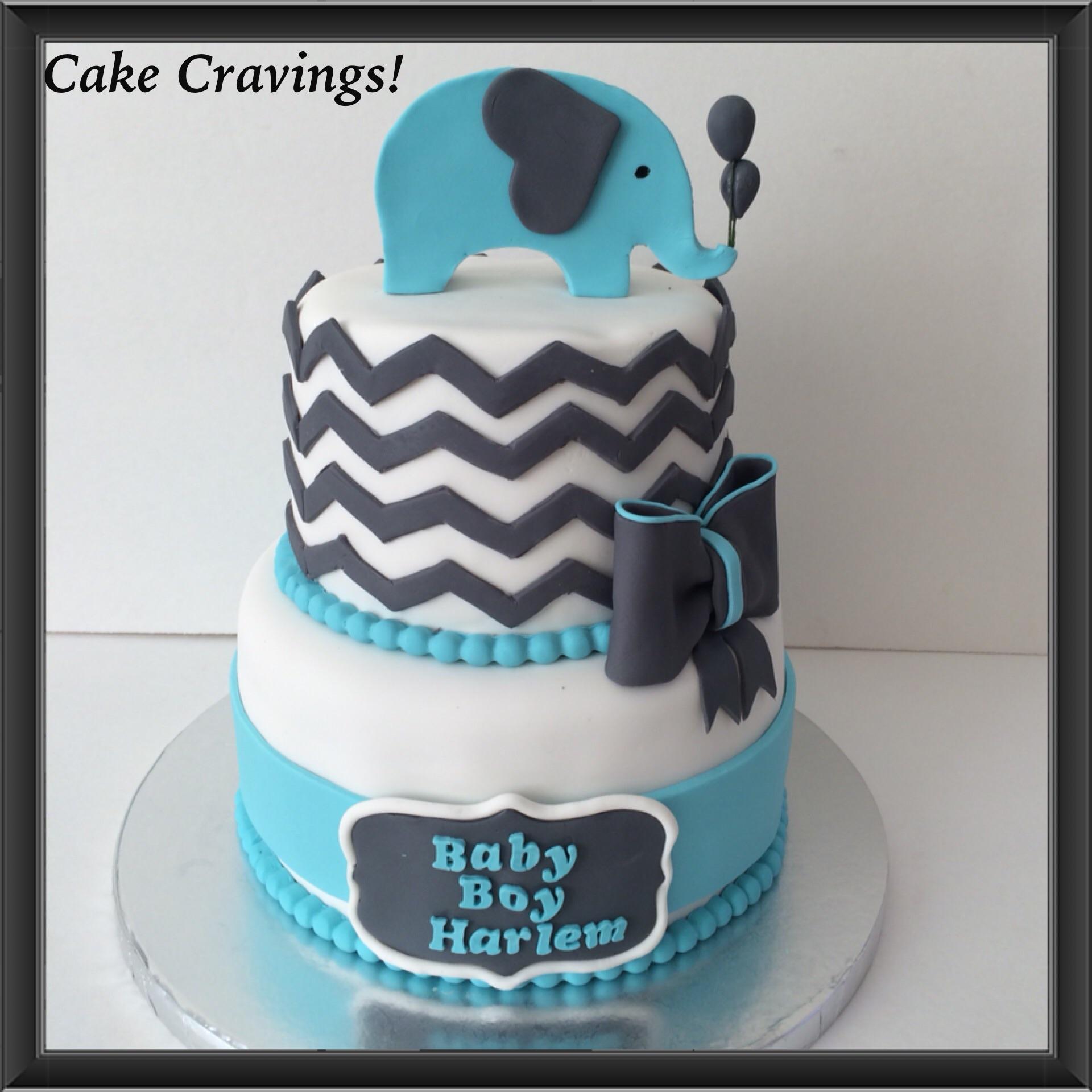 Baby Shower Themes Chevron ~ Chevron baby shower cake cakecravings